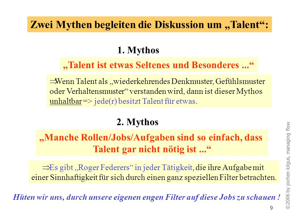 """Zwei Mythen begleiten die Diskussion um """"Talent :"""