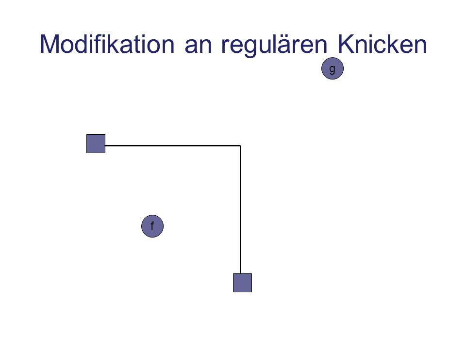 Modifikation an regulären Knicken