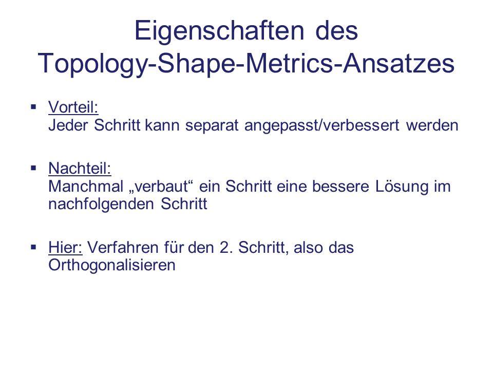 Eigenschaften des Topology-Shape-Metrics-Ansatzes