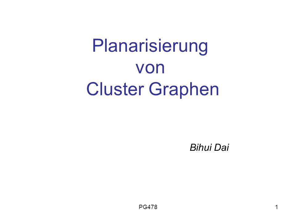 Planarisierung von Cluster Graphen