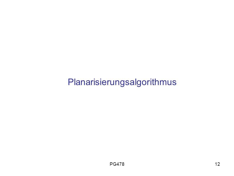Planarisierungsalgorithmus