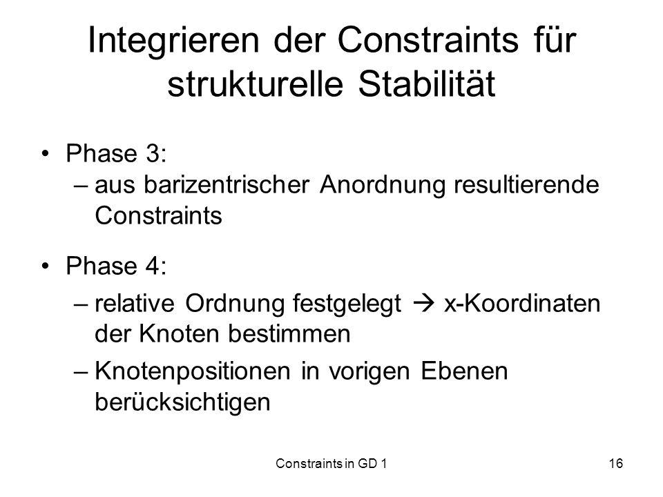 Integrieren der Constraints für strukturelle Stabilität