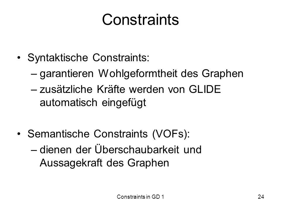 Constraints Syntaktische Constraints:
