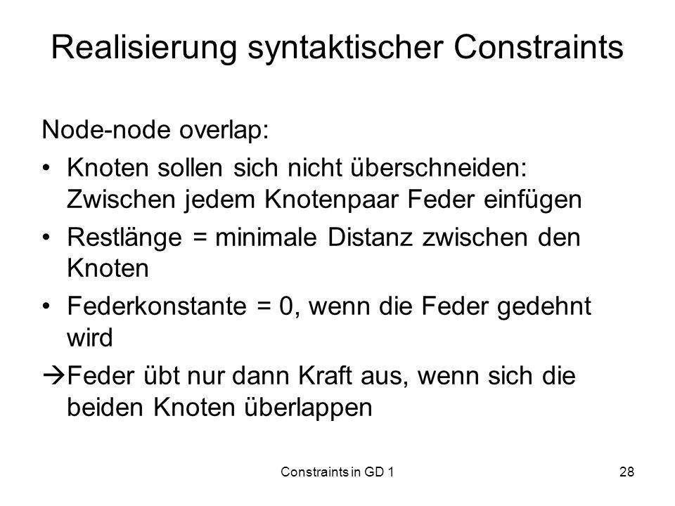 Realisierung syntaktischer Constraints