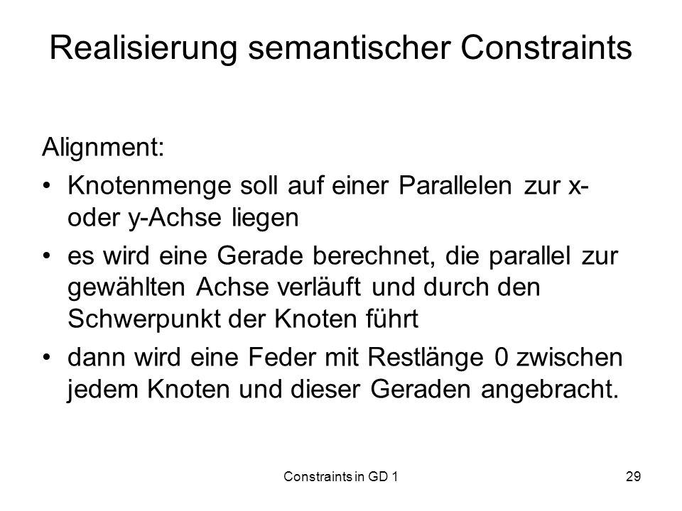 Realisierung semantischer Constraints