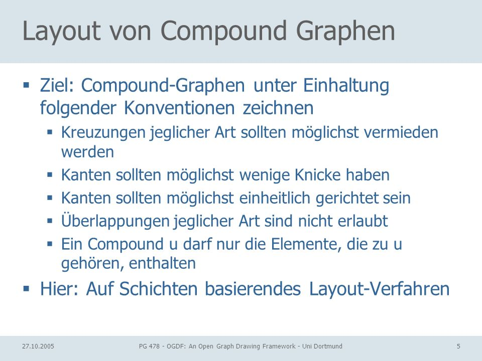 Layout von Compound Graphen