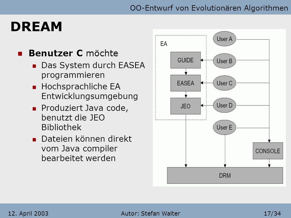 DREAM Benutzer C möchte Das System durch EASEA programmieren