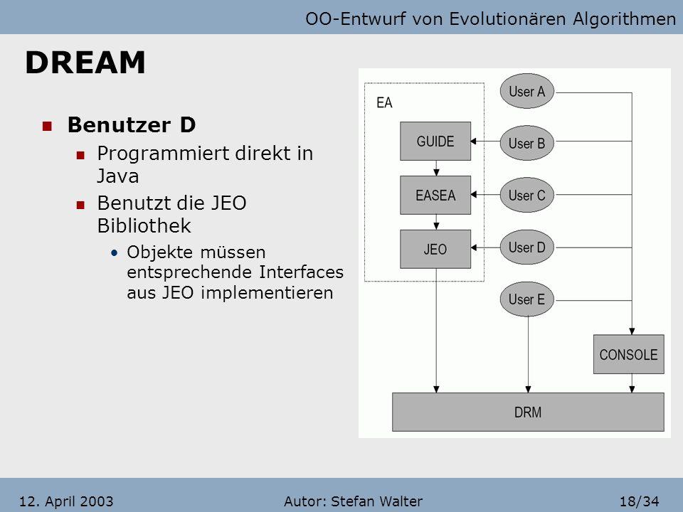 DREAM Benutzer D Programmiert direkt in Java
