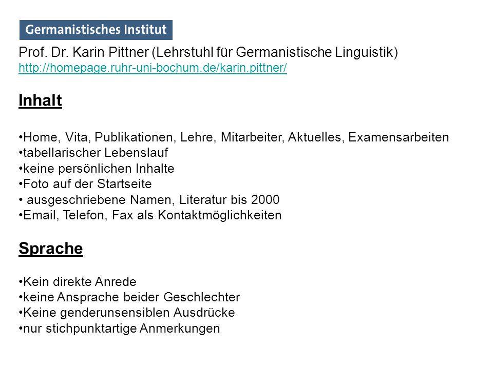 Prof. Dr. Karin Pittner (Lehrstuhl für Germanistische Linguistik)