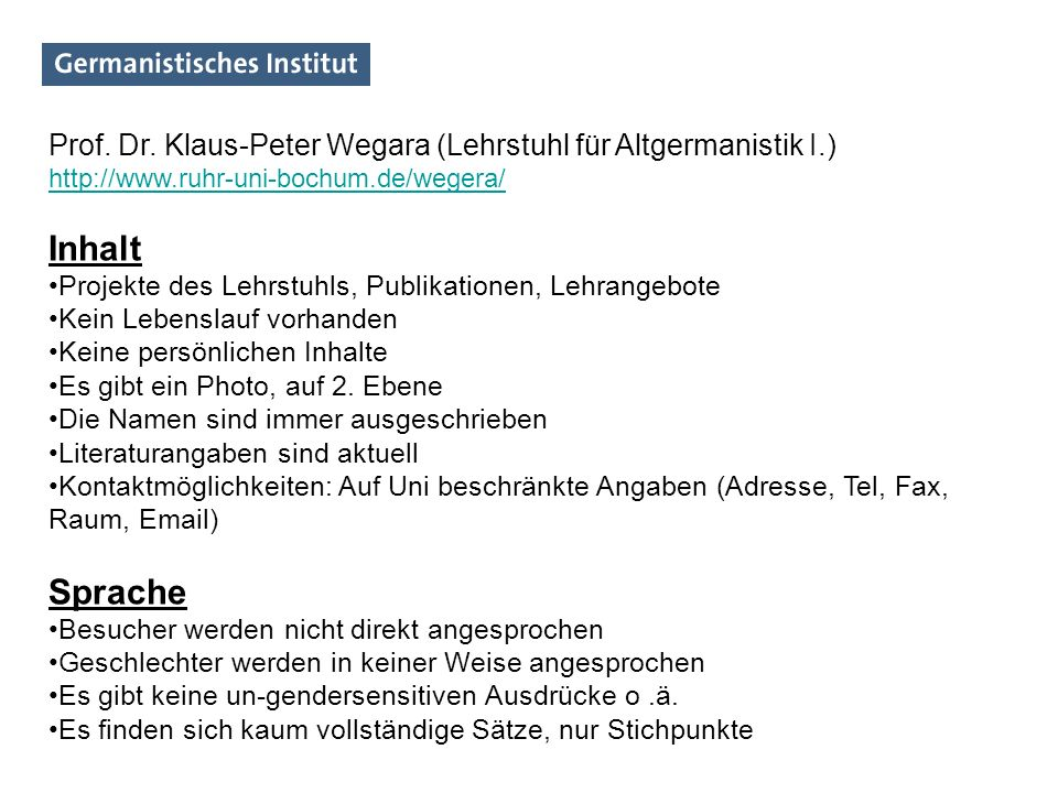 Prof. Dr. Klaus-Peter Wegara (Lehrstuhl für Altgermanistik I.)