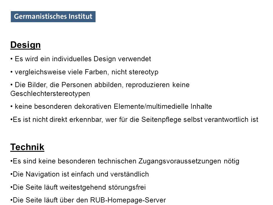 Design Technik Es wird ein individuelles Design verwendet