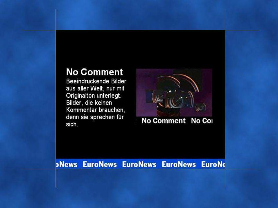 Und dass selbst Bilder, die um ein Höchstmaß an Authentizität bemüht sind, nicht immer leicht zu lesen sind, beweist das Nachrichtenmaterial, das EuroNews unter dem Titel 'No comment' sendet.