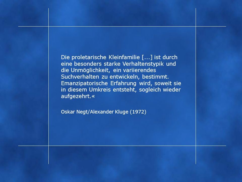 Oskar Negt/Alexander Kluge (1972)
