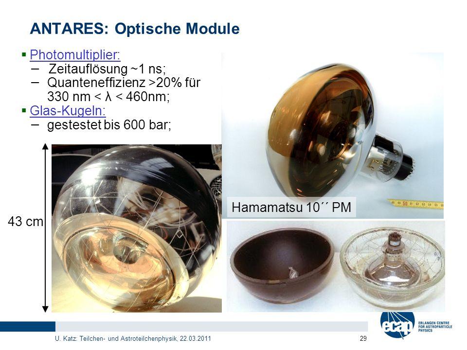 ANTARES: Optische Module