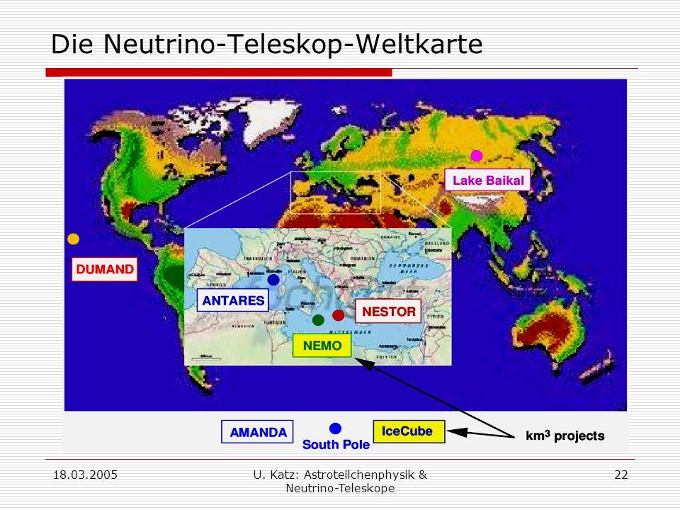 Die Neutrino-Teleskop-Weltkarte