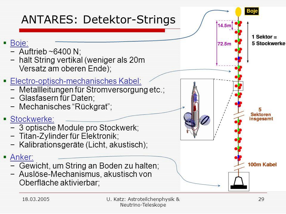 ANTARES: Detektor-Strings