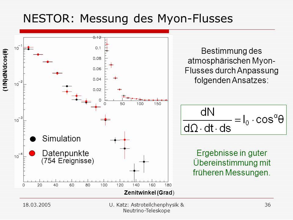 NESTOR: Messung des Myon-Flusses