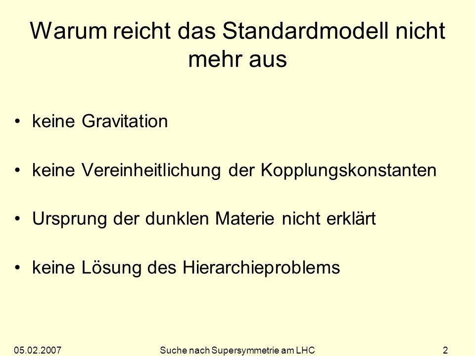 Warum reicht das Standardmodell nicht mehr aus