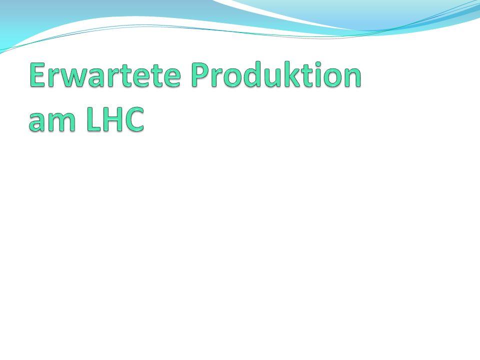 Erwartete Produktion am LHC