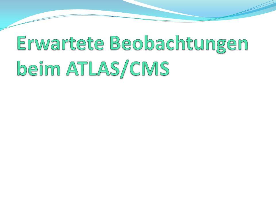 Erwartete Beobachtungen beim ATLAS/CMS