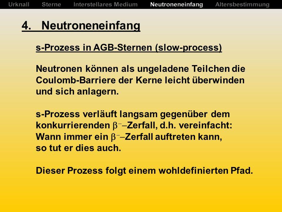 4. Neutroneneinfang s-Prozess in AGB-Sternen (slow-process)