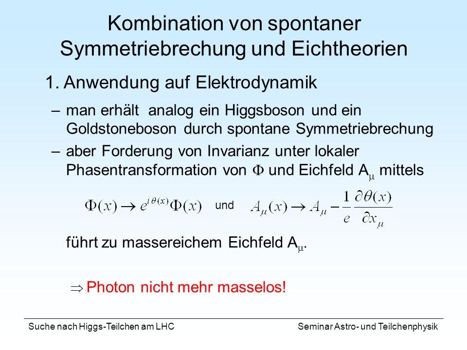 Kombination von spontaner Symmetriebrechung und Eichtheorien