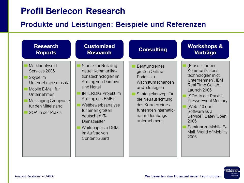 Produkte und Leistungen: Beispiele und Referenzen