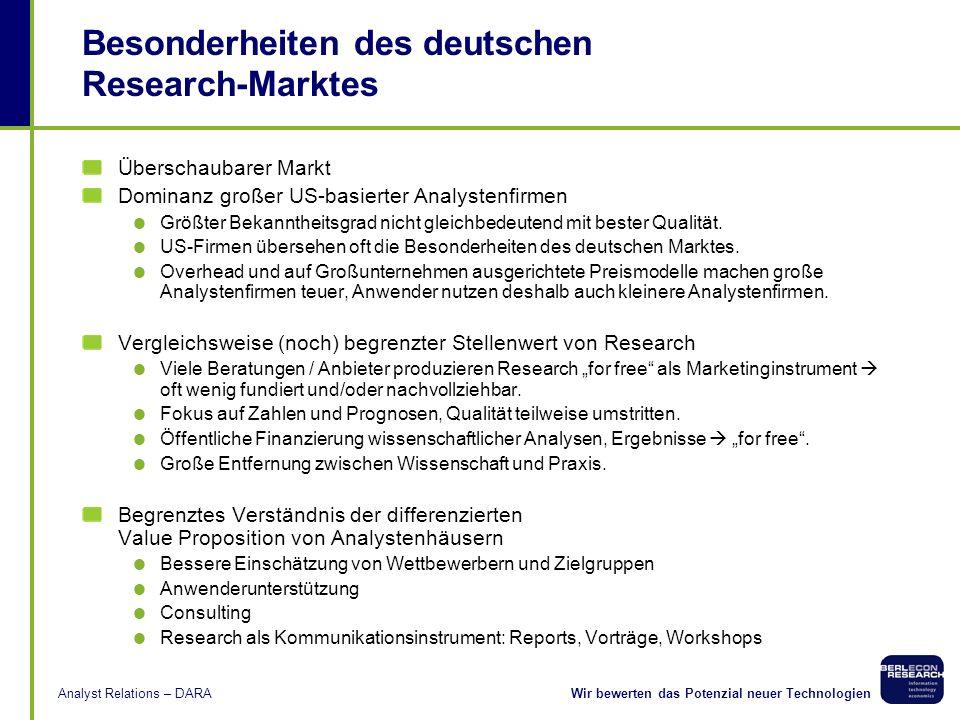 Besonderheiten des deutschen Research-Marktes
