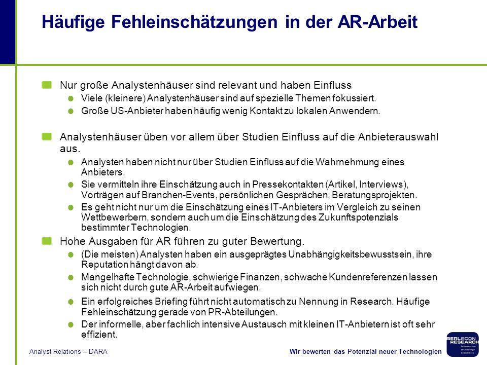 Häufige Fehleinschätzungen in der AR-Arbeit