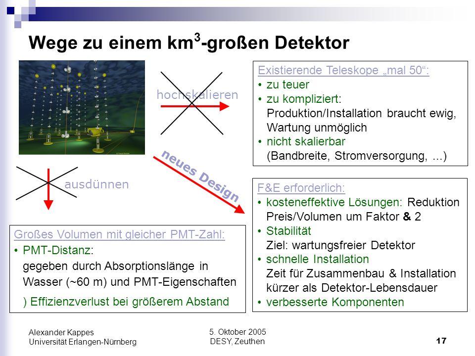 Wege zu einem km3-großen Detektor