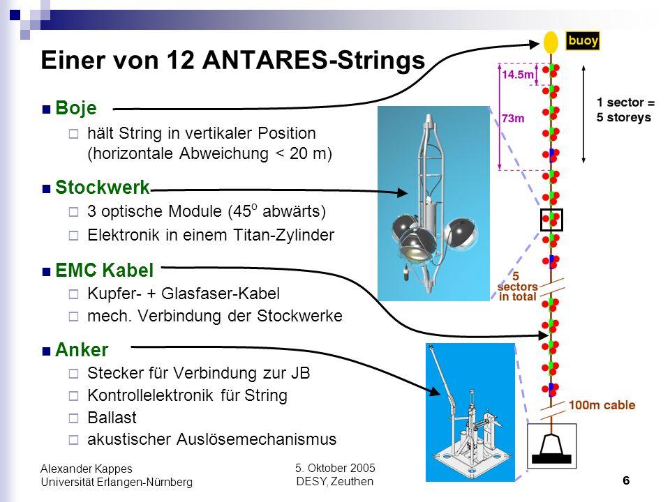 Einer von 12 ANTARES-Strings