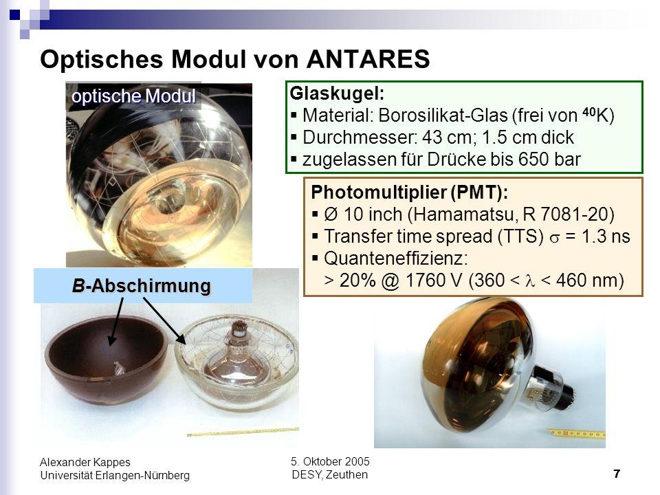 Optisches Modul von ANTARES