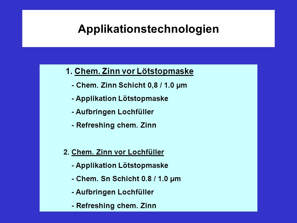 Applikationstechnologien