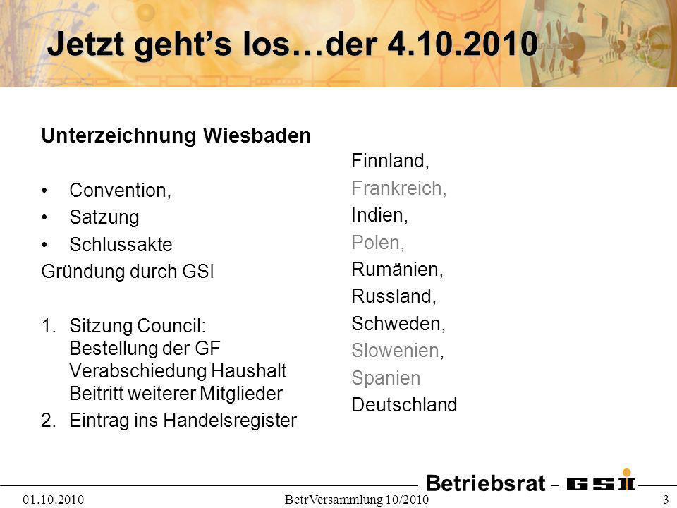 Jetzt geht's los…der 4.10.2010 Unterzeichnung Wiesbaden Finnland,