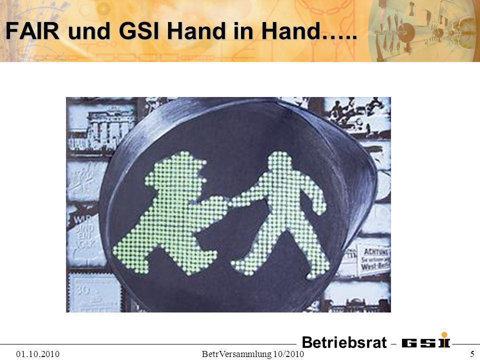 FAIR und GSI Hand in Hand…..