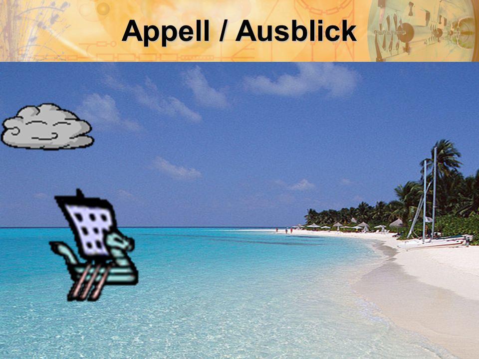 Appell / Ausblick Frank Baumann: Präsentation zum aktuellen Stand des AUGE Projektes (20.04.2009)