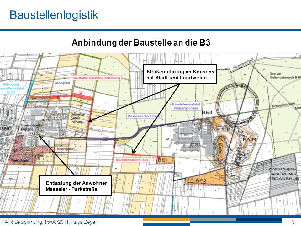 Baustellenlogistik Anbindung der Baustelle an die B3