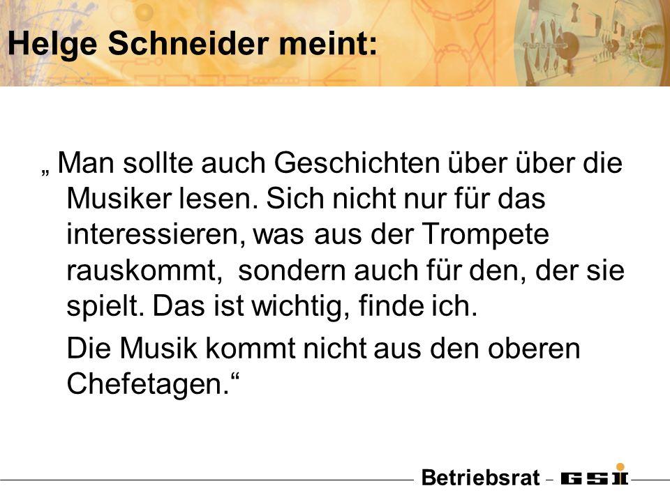 Helge Schneider meint: