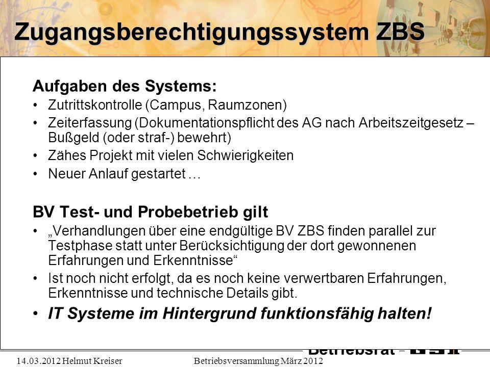 Zugangsberechtigungssystem ZBS