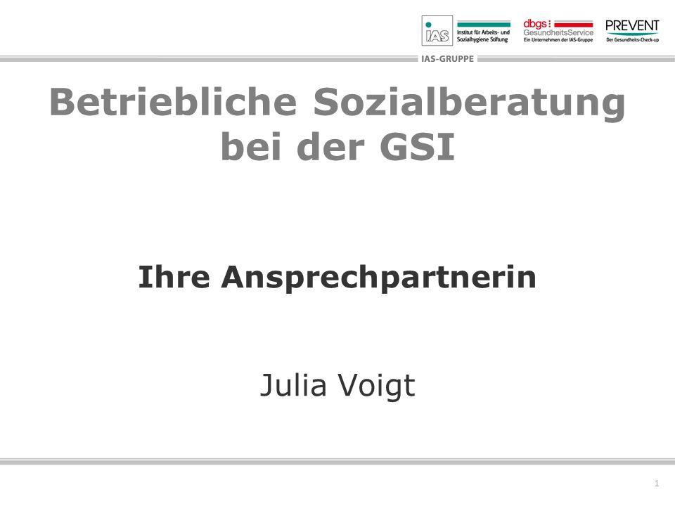 Betriebliche Sozialberatung bei der GSI