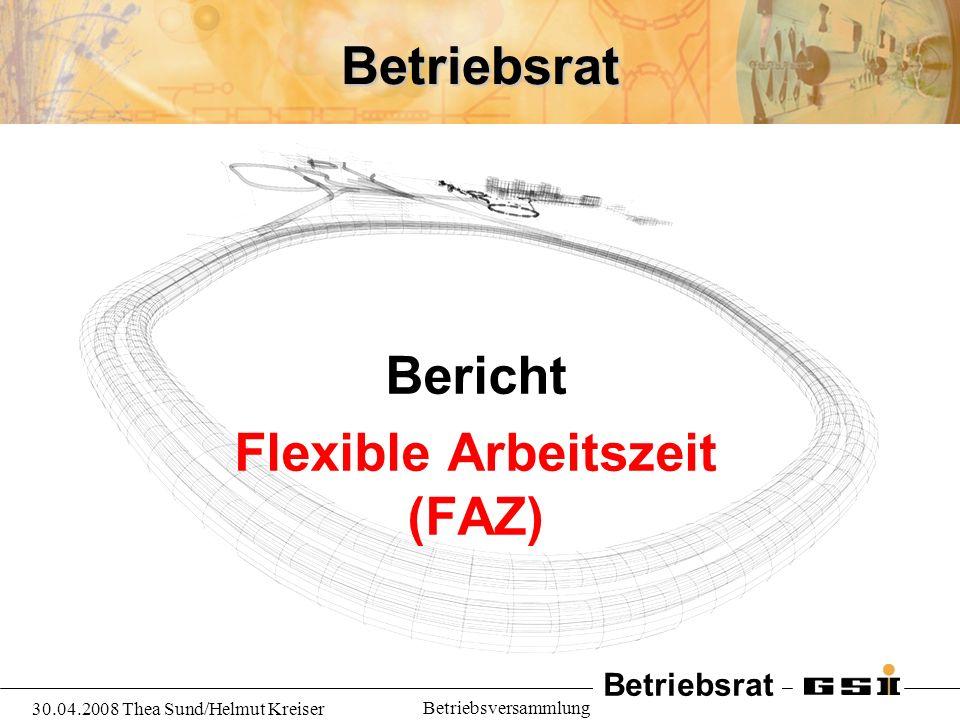 Bericht Flexible Arbeitszeit (FAZ)