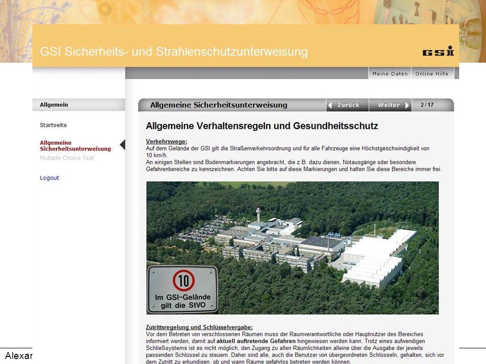 Alexandra Knapp: Präsentation der GSI-Online-Unterweisungen