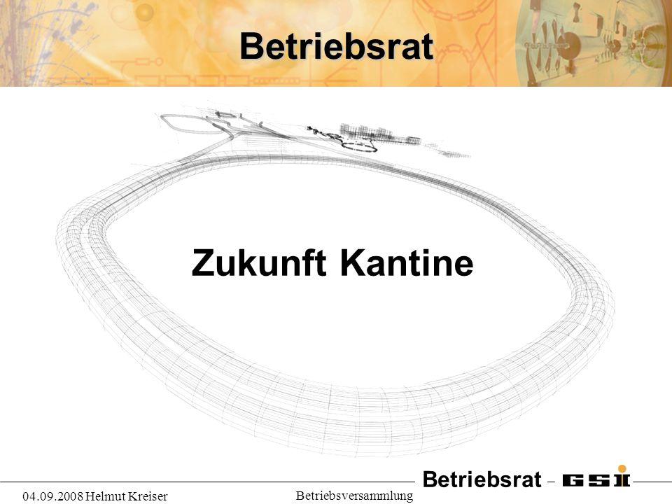 Betriebsrat Zukunft Kantine