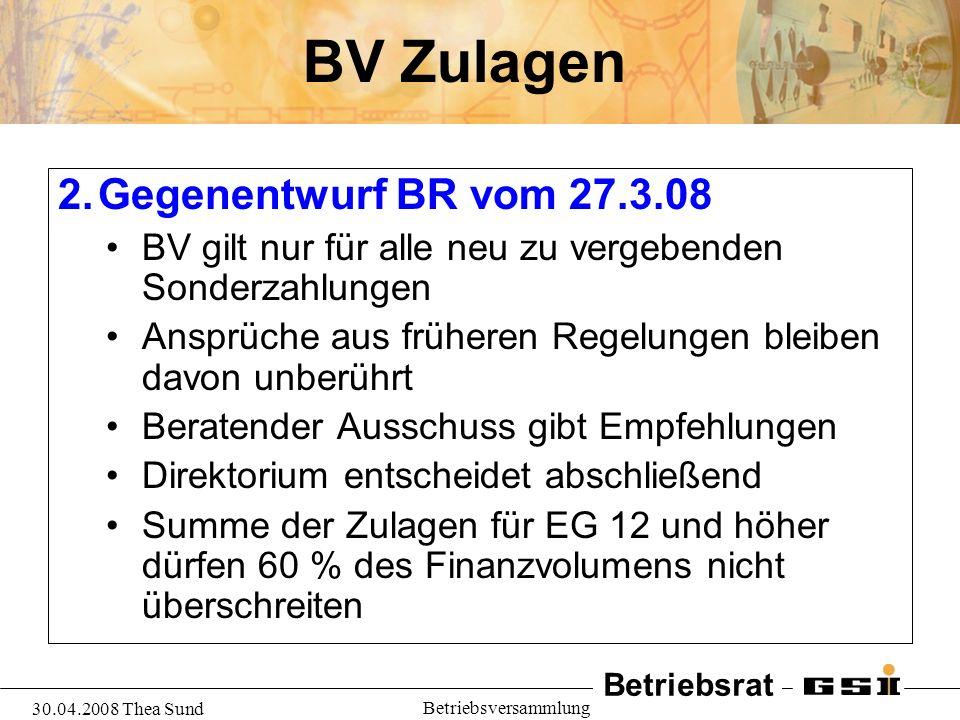 BV Zulagen Gegenentwurf BR vom 27.3.08