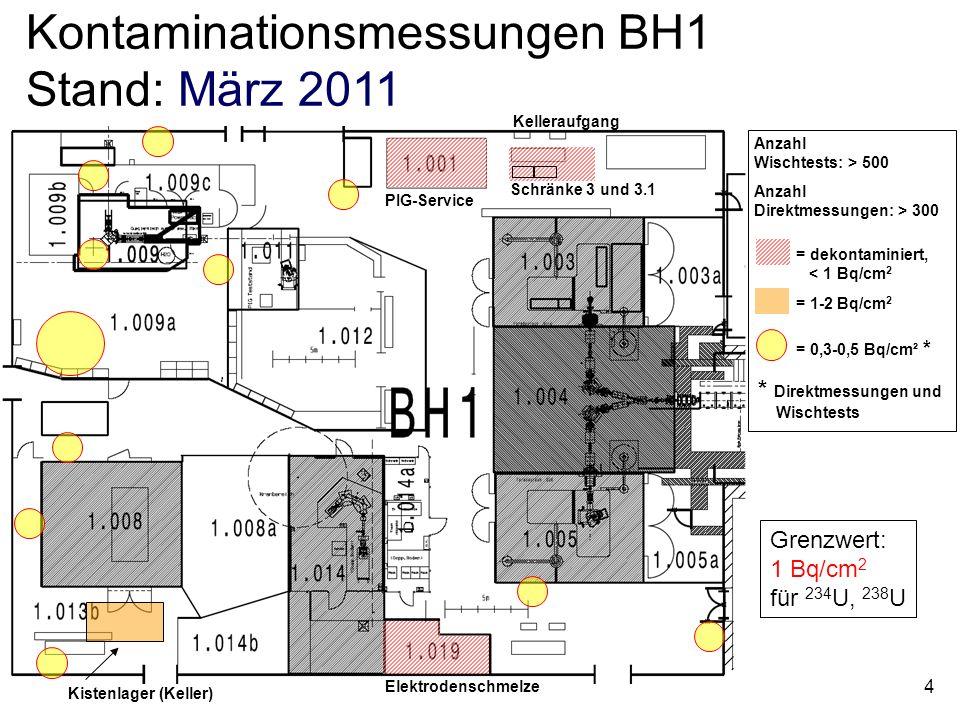 Kontaminationsmessungen BH1 Stand: März 2011