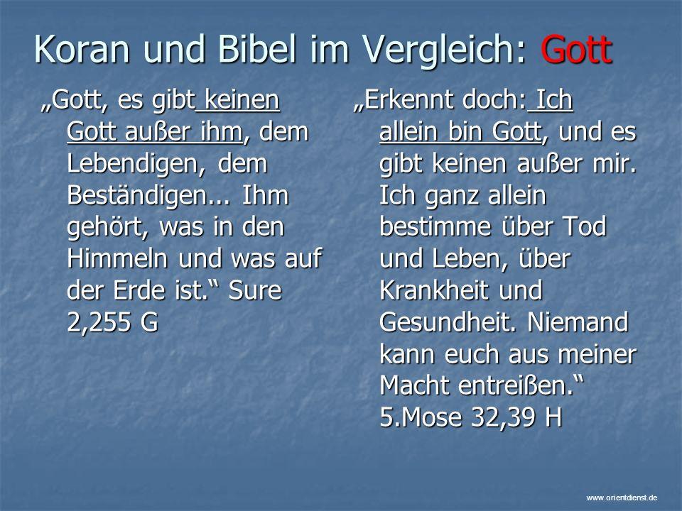 Koran und Bibel im Vergleich: Gott