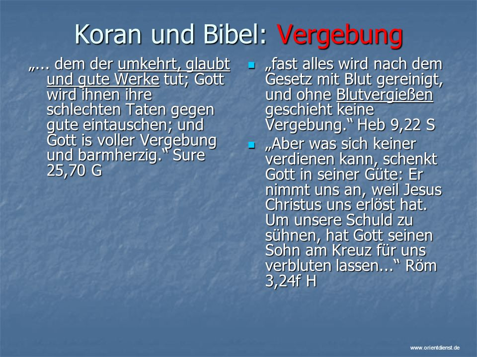 Koran und Bibel: Vergebung