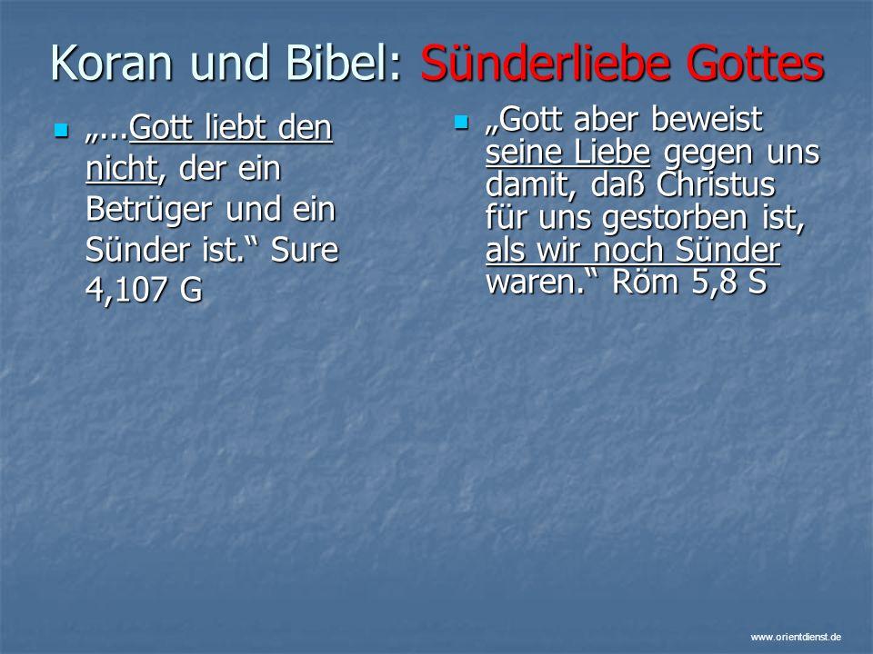 Koran und Bibel: Sünderliebe Gottes