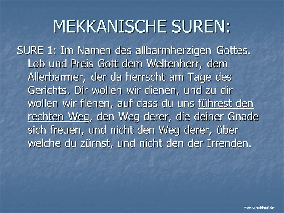 MEKKANISCHE SUREN: