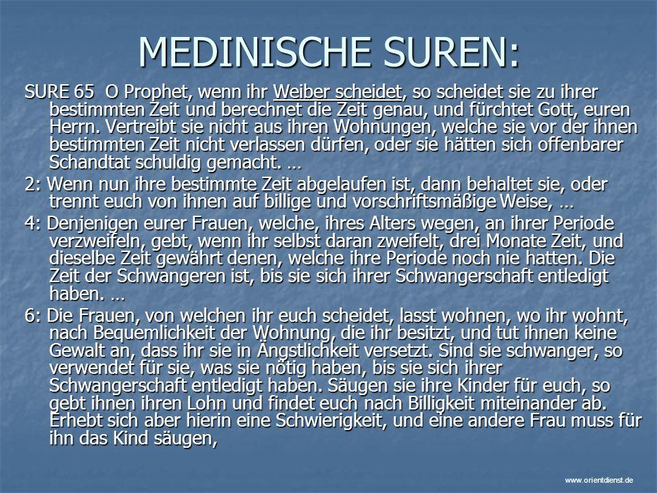 MEDINISCHE SUREN: